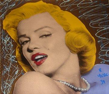Sexy Marilyn Monroe Gold Unique 2004 15x15 Limited Edition Print -  Ringo