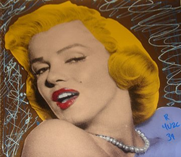 Sexy Marilyn Monroe Gold Unique 2004 15x15 Limited Edition Print by  Ringo