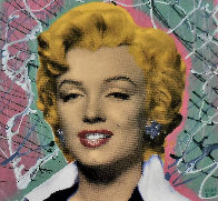 Marilyn 2005 18x18 Embellished Collaboration Limited Edition Print by  Ringo - 0
