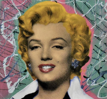 Marilyn 2005 18x18 Embellished Collaboration Limited Edition Print by  Ringo