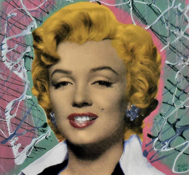 Marilyn 2005 18x18 Embellished Collaboration by  Ringo