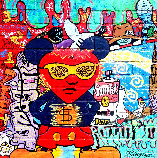 Andy's Heart State III 2014 34x34 Original Painting by  Ringo