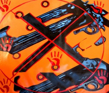 Guns XX 2008 40x42 Original Painting -  Ringo