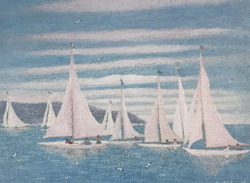 Regata 2005 19x23 Original Painting - Rino Li Causi