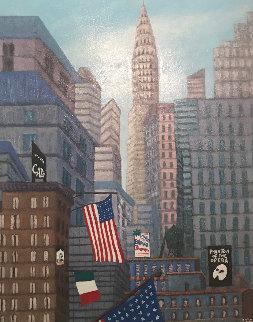 New York Dream 1998 26x32 Original Painting - Rino Li Causi