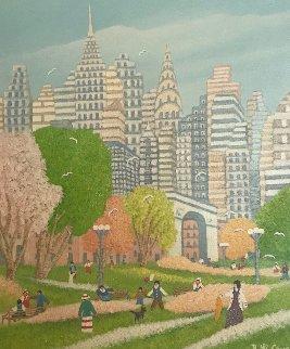 What a Day 2010 24x28 Original Painting - Rino Li Causi