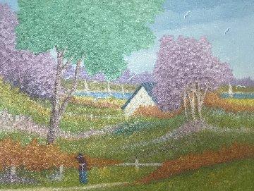 La Casa Al Mare 1992 20x24 Original Painting - Rino Li Causi