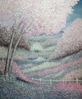 Un Momento Di Pace 1993 24x28 Original Painting - Rino Li Causi