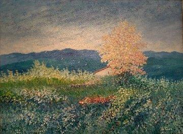 Untitled Landscape 1993 35x45 Original Painting by Rino Li Causi