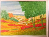 Spring in the Valley 1995 44x56 Super Huge Original Painting by Rino Li Causi - 1