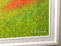 Spring in the Valley 1995 44x56 Super Huge Original Painting by Rino Li Causi - 3
