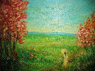 Figure in a Landscape 20x24 Original Painting by Rino Li Causi - 0