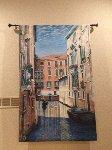Venetian Waterway, Italy 84x52 Original Painting - Rita Ford Jones