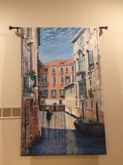 Venetian Waterway, Italy 84x52 Original Painting by Rita Ford Jones