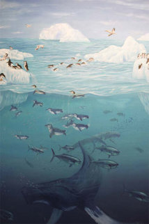 Arctic Bliss 1990 53x41 Original Painting - Blu Rivard