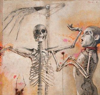 Siamese 2011 37x39 Original Painting - Arturo Rivera