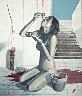 Potion 2013 44x37 Original Painting - Arturo Rivera