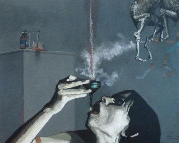 Elixir 2011 31x39 Original Painting - Arturo Rivera