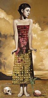 Penitent Maria 2014 59x29 Original Painting - Arturo Rivera