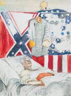Last Civil War Veteran 1968 37x28 Works on Paper (not prints) - Larry Rivers