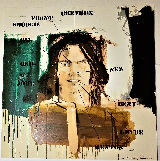 Parts of the Face: French Vocabulary Lesson - Studio Proof 1991 Works on Paper (not prints) by Larry Rivers