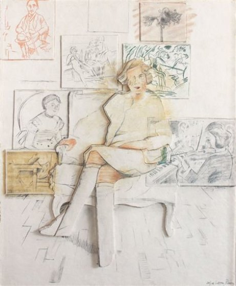 Drawn From the Collection 1984 (Bas Relief) Limited Edition Print by Larry Rivers