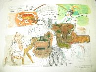 New York Bronx Zoo 1983 Limited Edition Print by Larry Rivers - 2