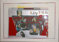 Living at the Movies 1974 Limited Edition Print by Larry Rivers - 1