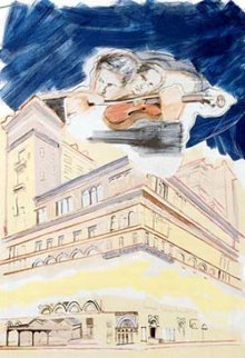 Sky Music At Carnegie Hall 1990 Limited Edition Print by Larry Rivers