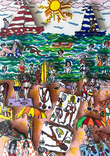 Beach 3-D 1984 Limited Edition Print - James Rizzi