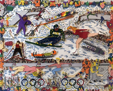 Nagano in '98 3-D Japan Limited Edition Print by James Rizzi