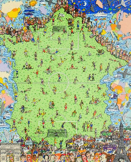 World Will Be Watching 3-D 1998 Super Huge  Limited Edition Print - James Rizzi