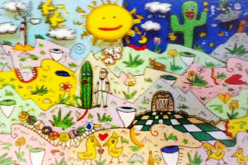 Faces in the Landscape 3-D 1995 Limited Edition Print by James Rizzi