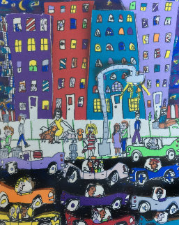Night Out AP 1984 Limited Edition Print - James Rizzi
