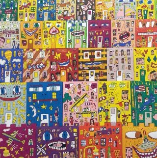 Lost in a Concrete Jungle 3-D 1990 Limited Edition Print - James Rizzi
