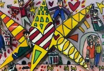Swinging on a Star 1990 3-D Limited Edition Print - James Rizzi
