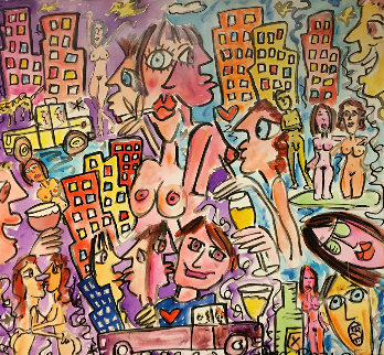 Before and After Hours 2005 36x36 Original Painting - James Rizzi