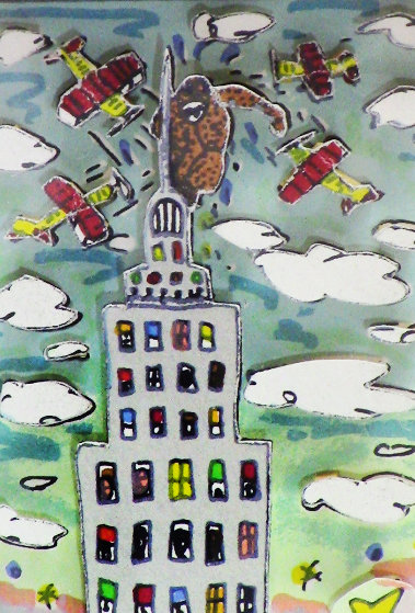 King Kong AP 1988 3-D Limited Edition Print by James Rizzi