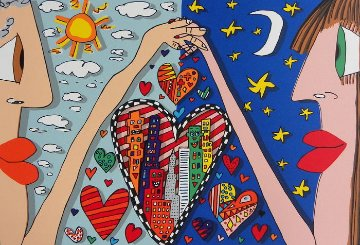 Love Is in the Air   3-D AP 1989 Limited Edition Print by James Rizzi