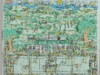 Lets All Meet At Daddy's Club (Tennis) 3-D 1995 Limited Edition Print by James Rizzi - 1