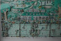Lets All Meet At Daddy's Club (Tennis) 3-D 1995 Limited Edition Print by James Rizzi - 2
