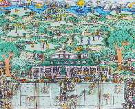 Lets All Meet At Daddy's Club (Tennis) 3-D 1995 Limited Edition Print by James Rizzi - 0