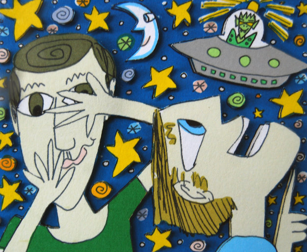 Someone is Watching Us 3-D 1997 Limited Edition Print by James Rizzi