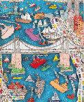 Brooklyn Bridge AP 3-D 1982 Limited Edition Print - James Rizzi