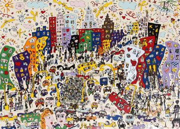 East Side Westside Upside And Down 1978 Limited Edition Print by James Rizzi