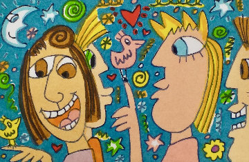 To Know You is to Love You 2002 Limited Edition Print by James Rizzi