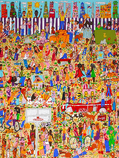 A Lot of Fun For City Kids 3-D 1990 Limited Edition Print by James Rizzi