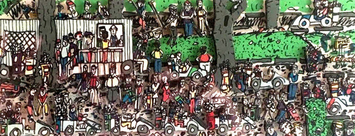 Waiting to Play Golf 3-D 1989 Limited Edition Print by James Rizzi