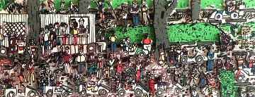 Waiting to Play Golf 3-D 1989 Limited Edition Print - James Rizzi