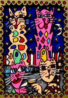 Kitty Cocktail 1994 3-D Works on Paper (not prints) by James Rizzi
